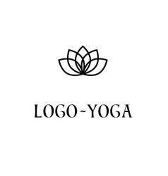 Lotus logo template logotype for yoga practice vector
