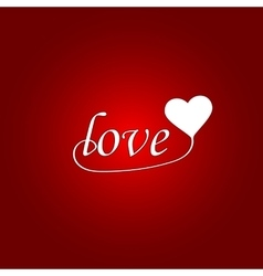 Love hand drawn poster vector image vector image