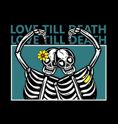 love till death vector image