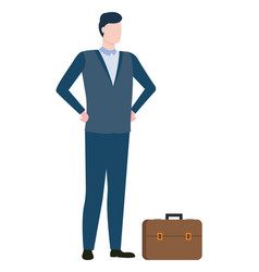 Man agent or consultant executive worker in suit vector
