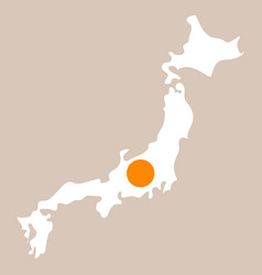Map of japan in high resolution detailed vector