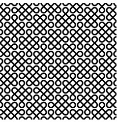 monochrome celtic knotwork seamless pattern vector image