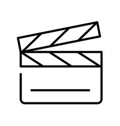 monochrome simple clapperboard icon vector image
