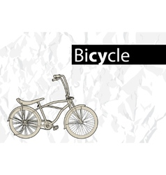 outline bicycle vector image