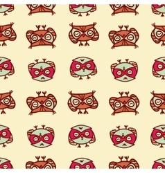 owls seamless pattern 2 vector image