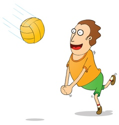 Playing volleyball vector image