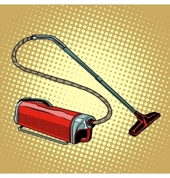 Retro vacuum cleaner home appliances vector