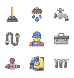 sanitary icons set cartoon style vector image