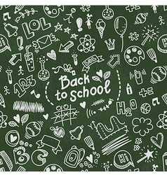 School seamless doodle pattern vector image
