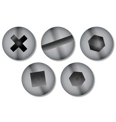 Screw heads vector