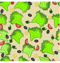 seamless background ingredients greek salad or vector image