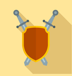 shield and sword icon flat style vector image
