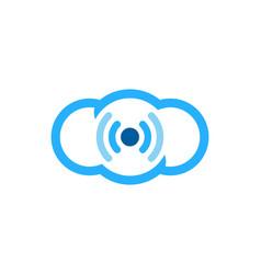 sky wifi logo icon design vector image