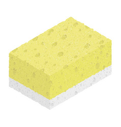 Sponge isolated on white background isometric vector