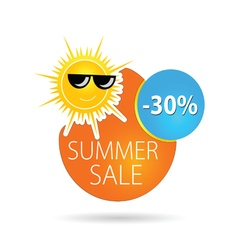 summer sale sun happy color vector image