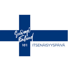 suomi finland 101 years of independence vector image