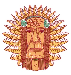 Tattoo with indian face vector