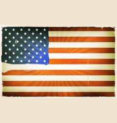 vintage american flag poster background vector image