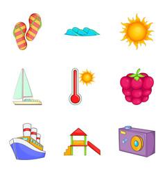 voucher icons set cartoon style vector image
