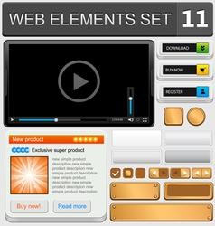 web elements set 11 vector image
