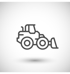 Wheel loader line icon vector