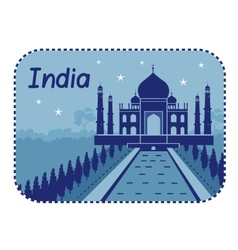 With Taj Mahal in India vector