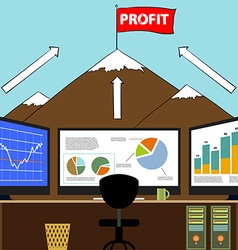 Workplace broker Stock vector image