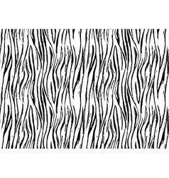 Zebra print seamless background pattern Black and vector image