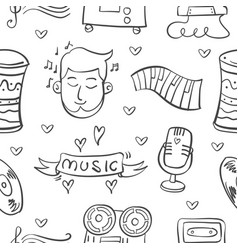 collection stock musical instrument doodles vector image vector image