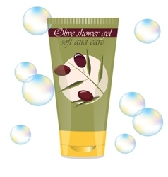face or hand olive cream vector image