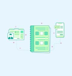flat design of organizer vector image vector image