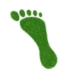 Footprint of grass vector