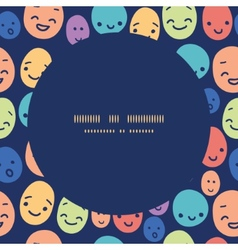 funny faces frame seamless pattern background vector image
