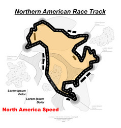Northern american track road vector