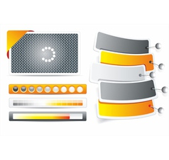 Set of web forms vector image