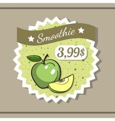 Smoothie Sticker 10 vector image