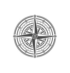 ancient wind rose isolated on white background vector image