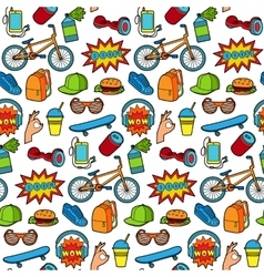 Fashion Patch Seamless Pattern vector image vector image