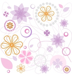 Floral pink ornament vector image vector image