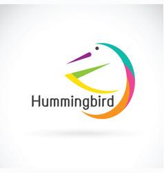 humming bird design on white background bird logo vector image