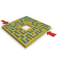 maze puzzle vector image vector image