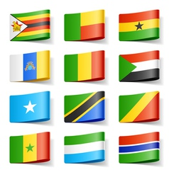 africa flags vector image vector image
