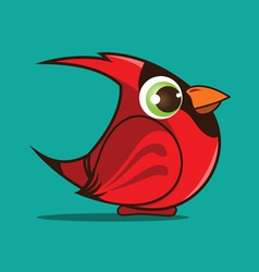 Cardinal bird cartoon vector