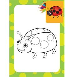 Ladybug toy vector image