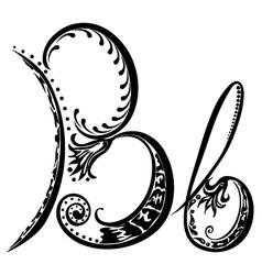 letter B b vector image