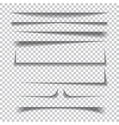Paper shadow effects on transparent checkered vector image