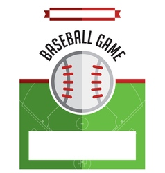 Baseball Game Flyer vector image vector image