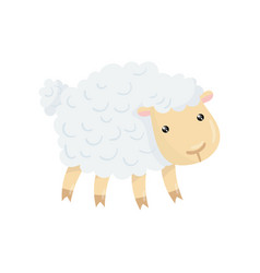 cartoon character of cute domestic sheep with vector image vector image