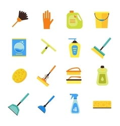 Cleaning Kit Colorful Icon Set vector image vector image