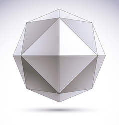 Abstract 3d origami polygonal object geometric vector
